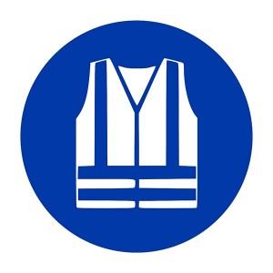 Hi Viz Jacket Symbol - Square