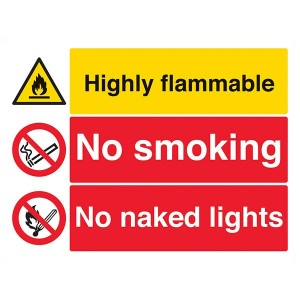 Highly Flammable / No Smoking / No Naked Lights - Landscape - Large