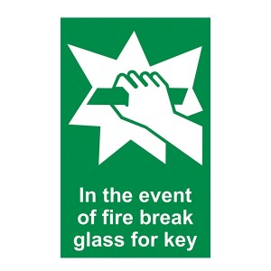 In The Event Of Fire Break Glass For Key - Portrait
