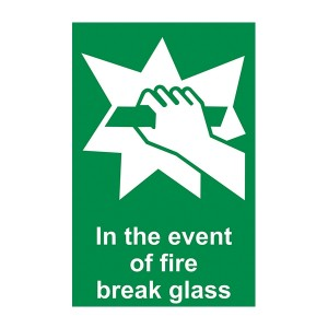 In The Event Of Fire Break Glass - Portrait