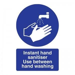 Instant Hand Sanitiser Use Between Hand Washing - Portrait