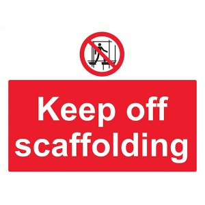 Keep Off Scaffolding - Landscape - Large