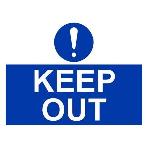 Keep Out - Landscape - Large