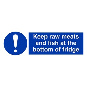 Keep Raw Meats And Fish At Bottom Of Fridge - Landscape