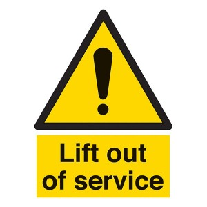 Lift Out Of Service - Portrait