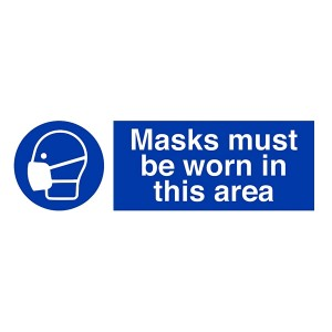 Masks Must Be Worn In This Area - Landscape
