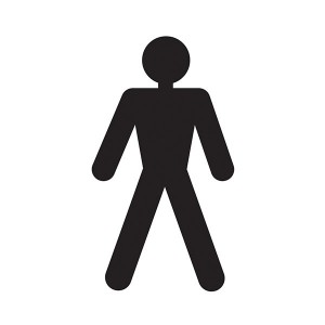 Men Toilet Symbol - Square
