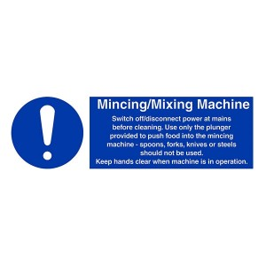 Mincing / Mixing Machine Instructions - Landscape