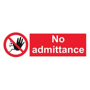 No Admittance - Landscape