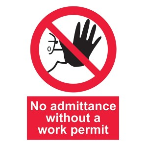 No Admittance Without A Work Permit - Portrait