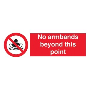 No Armbands Beyond This Point - Landscape