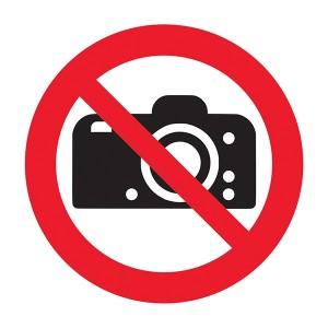 No Cameras Symbol - Square
