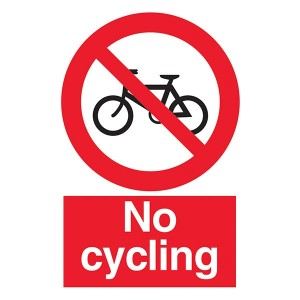 No Cycling - Portrait