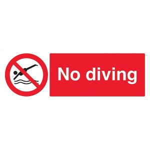 No Diving - Landscape