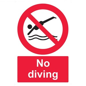 No Diving - Portrait