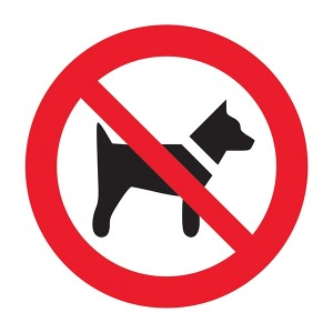 No Dogs Symbol - Square