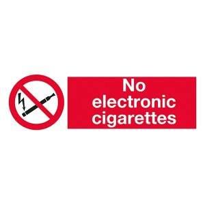 No Electronic Cigarettes - Landscape