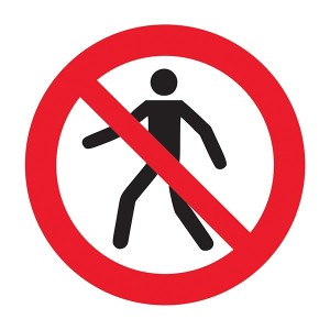 No Entry Symbol - Square