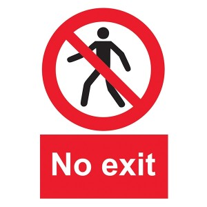 No Exit With Man - Portrait
