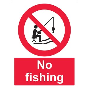 No Fishing - Portrait