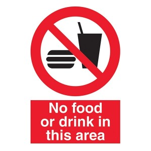 No Food Or Drink In This Area - Portrait