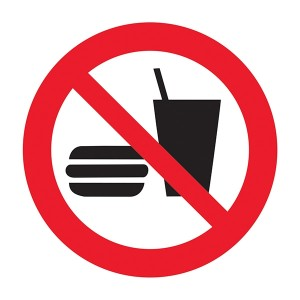 No Food Or Drink Symbol - Square