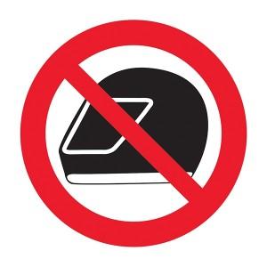 No Helmets Symbol - Square