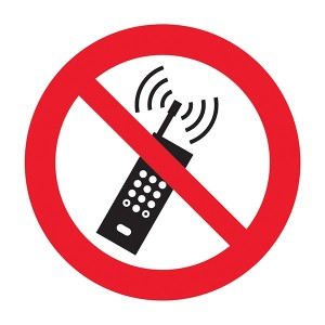 No Mobile Phones Symbol - Square