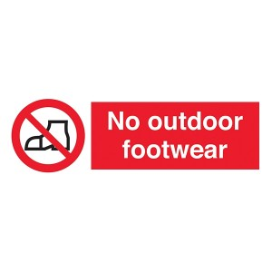 No Outdoor Footwear - Portrait