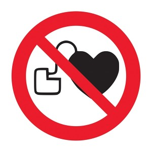 No Pacemakers Symbol - Square