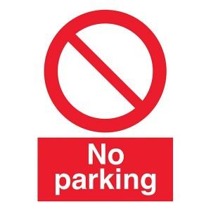 No Parking With Symbol - Portrait