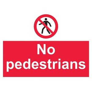 No Pedestrians - Landscape - Large