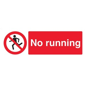 No Running - Landscape