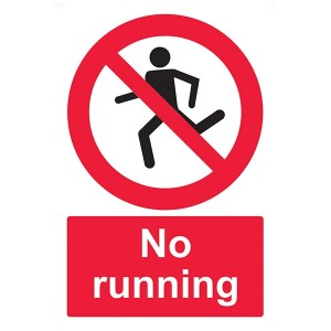 No Running - Portrait