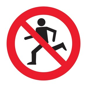No Running Symbol - Square