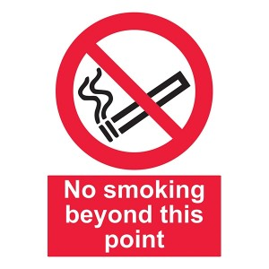 No Smoking Beyond This Point - Portrait