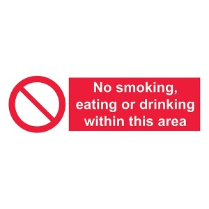 No Smoking, Eating Or Drinking Within This Area - Landscape