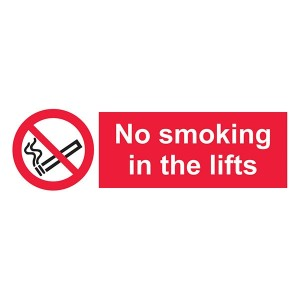 No Smoking In The Lifts - Landscape
