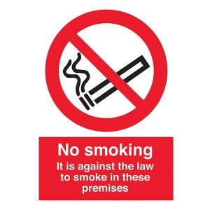 No Smoking - It Is Against The Law To Smoke In These Premises - Portrait