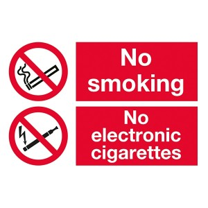 No Smoking / No Electronic Cigarettes - Landscape - Large