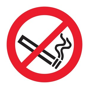 No Smoking Symbol Right - Square