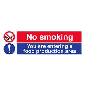 No Smoking - You Are Entering A Food Production Area - Landscape