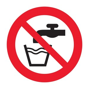 Not Drinking Water Symbol - Square