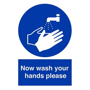 Now Wash Your Hands Please - Portrait
