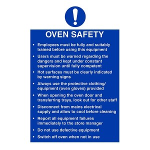 Oven Safety / Employees Must Be Trained / Hot Surfaces - Portrait
