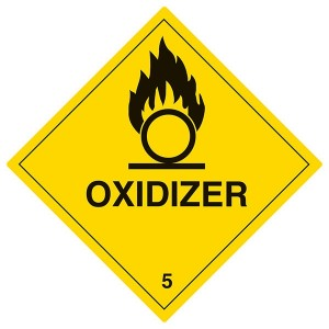 Oxidizer - Yellow - Diamond - Square