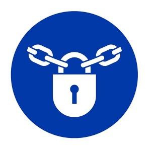 Padlock Symbol - Square