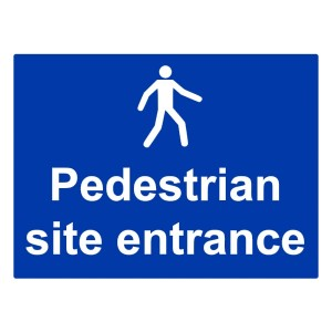 Pedestrian Site Entrance - Landscape - Large