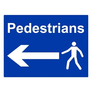 Pedestrians - Arrow Left - Landscape - Large