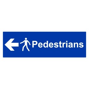 Pedestrians - Arrow Left - Landscape